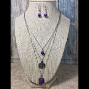 Paparazzi necklace in Silver & Purple